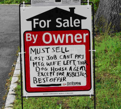 sellers disclosure, funny real estate photo